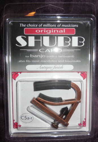 Shubb C5A-R radiused Banjo Capo with Antique finish new in package free Shipping