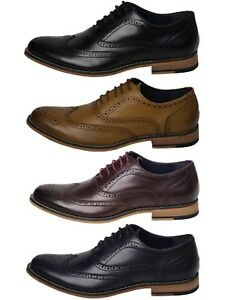 Men-s-Italian-Couture-Oxford-Real-Leather-Gatsby-Brogues-Casual-Shoes
