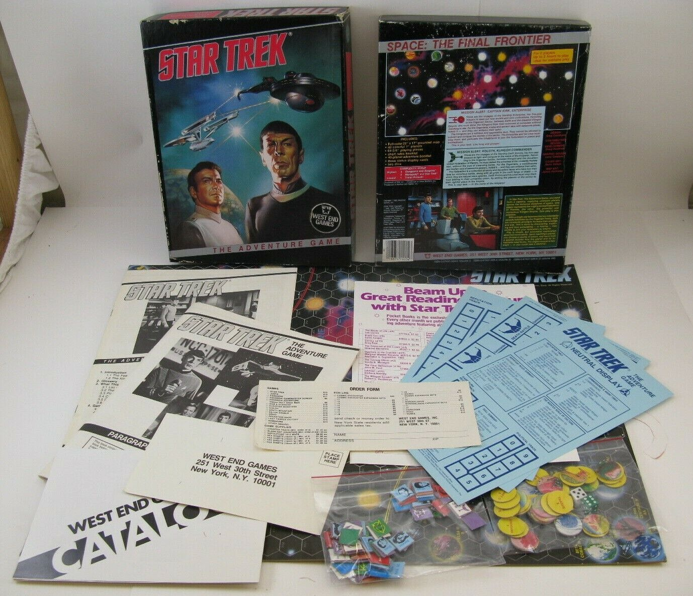 West End Games Wargame Star Trek - The Adventure Game Box 100% Complete Board