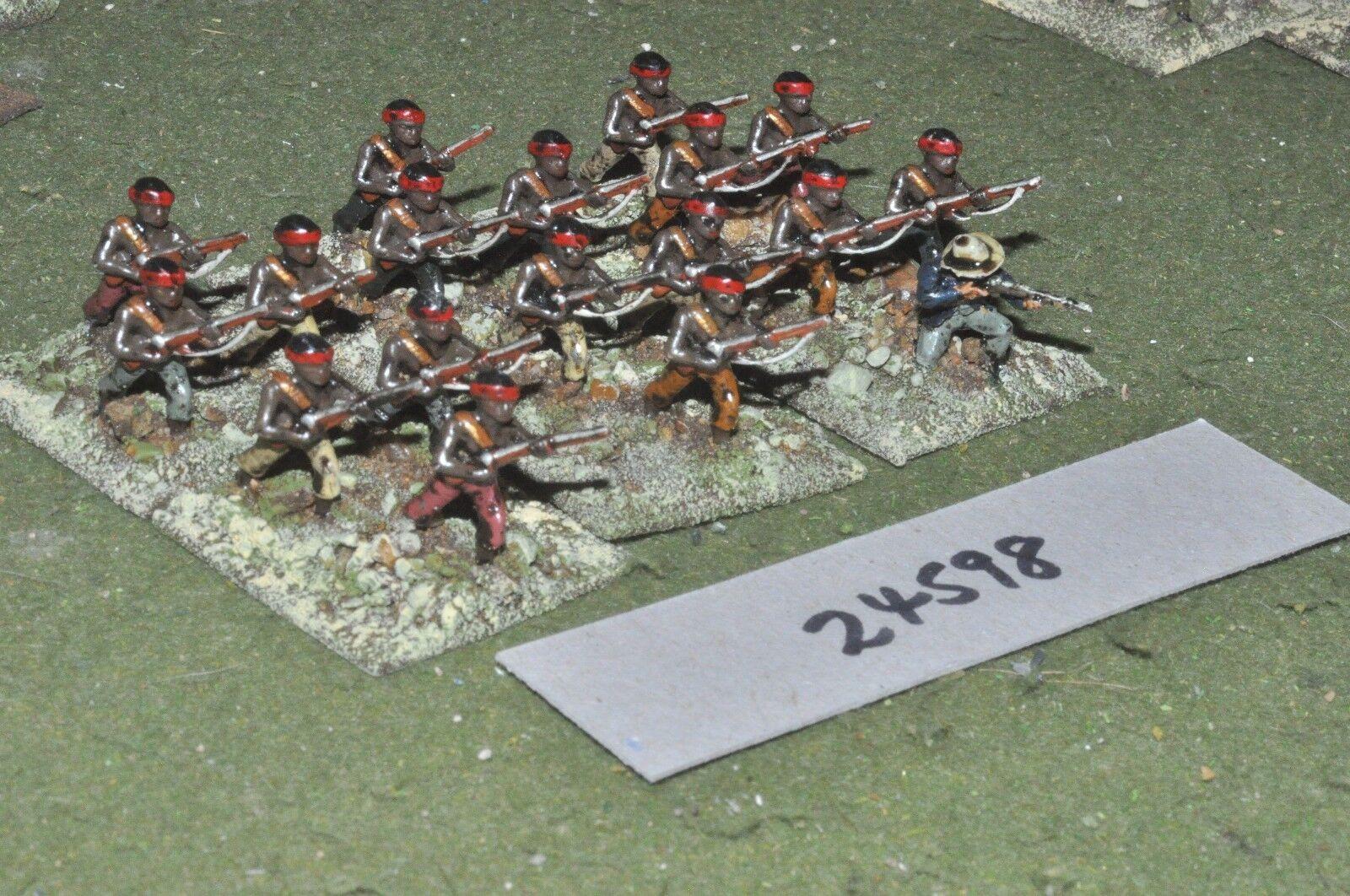 25mm colonial   zulu war - riflemen 18 figures - inf (24598)