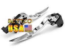 Silver Blade Brake Clutch Levers For Suzuki GSXR1000 2005-2006 GSXR600/750 06-10