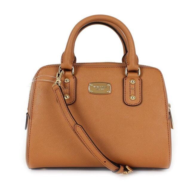 34a61c63bb78c9 Michael Kors Acorn Saffiano Leather Small Satchel Crossbody Bag for ...