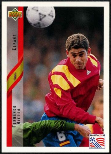 tarjeta ENG//GER Fernando Hierro España #159 World Cup USA/'94, C385