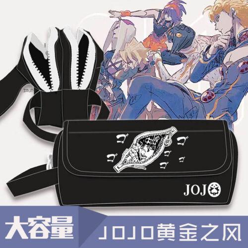 Anime Pencil Case Jojo/'s Bizarre Adventure Golden Wind Papeterie Sac Pen Sac
