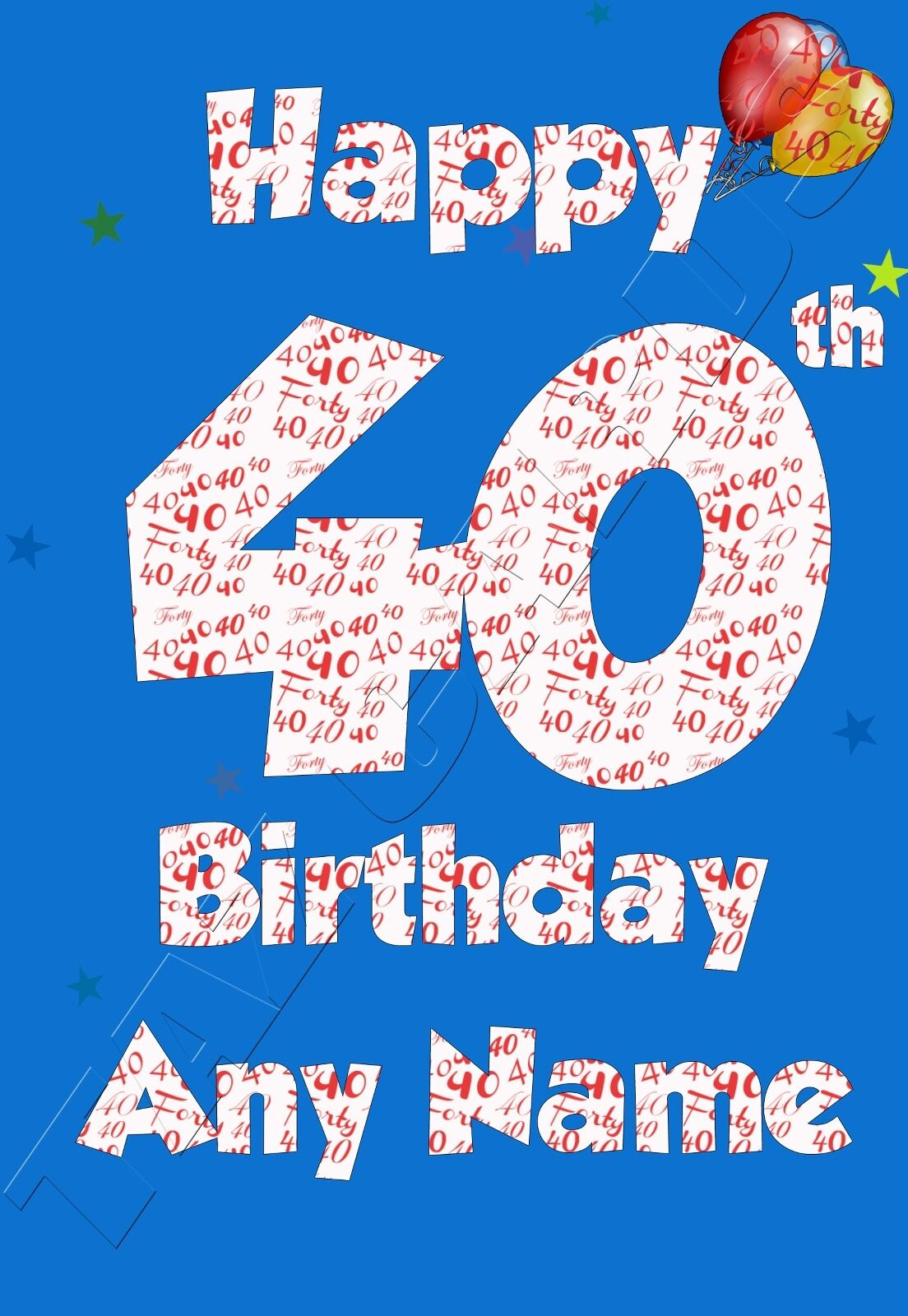 For Him Birthday Card male brother friend son cousin grandson nephew
