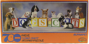 Jigsaw Ceaco And Cats Pcs Vintage 700 Long Shot Alphabet Dogs yNO8vmnw0