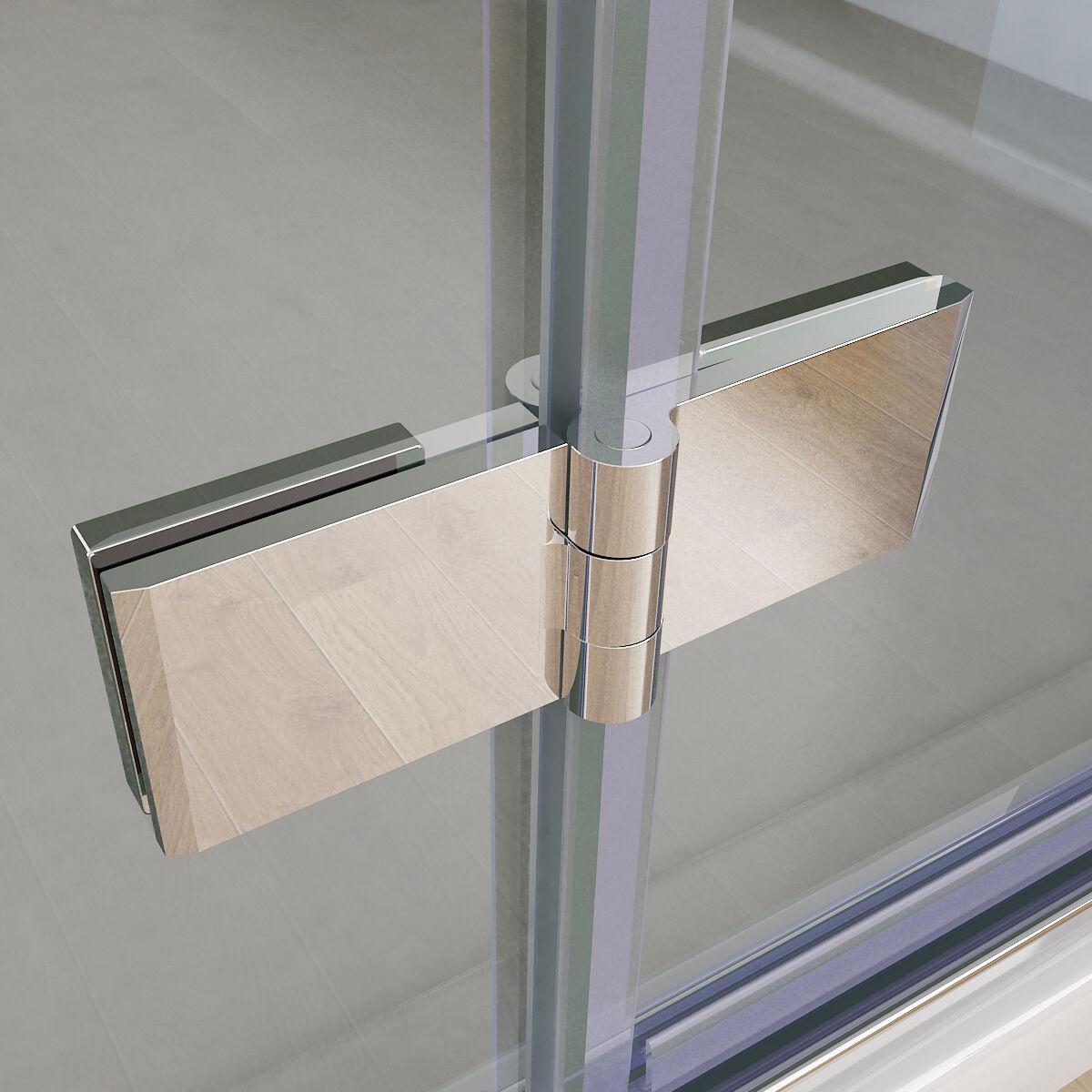 Nischentür 70 75 80 90 100 120cm Duschabtrennung Falttür Duschwand Nano Glas 197