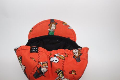 Cycling cap THANKSGIVING THE PEANUTS handmade in USA  ONE SIZE OR ANY SIZE