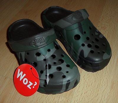 Tarnmuster Camouflage Kinder Jungen Schuhe Clogs Gartenclogs Sandalen 26 Glatt