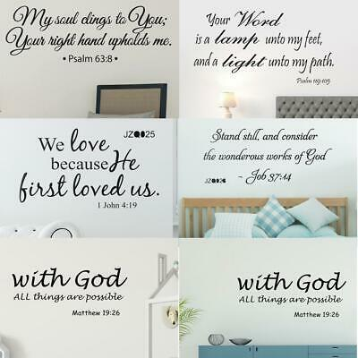 Modern Letters Proverbs Bible Verse Wall Art Stickers Wall Decal Home Decor