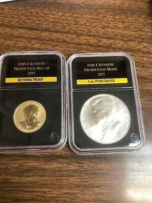 Kennedy Silver Medal 2015 John F - RAW COIN IN CAPSULE!! Chronicles Set