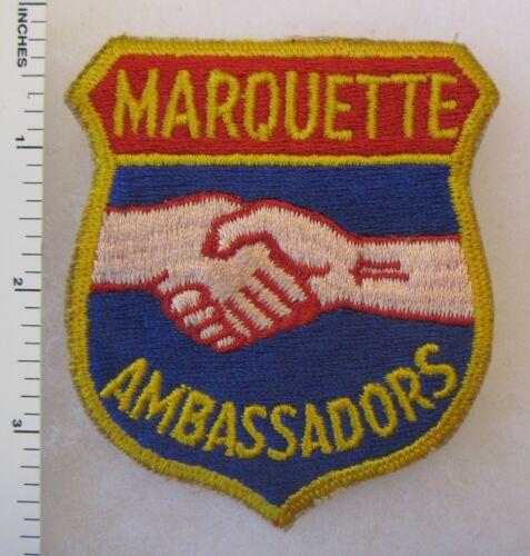 ORIGINAL Vintage Cut Edge US ARMY ROTC PATCH MARQUETTE WISCONSIN AMBASSADORS
