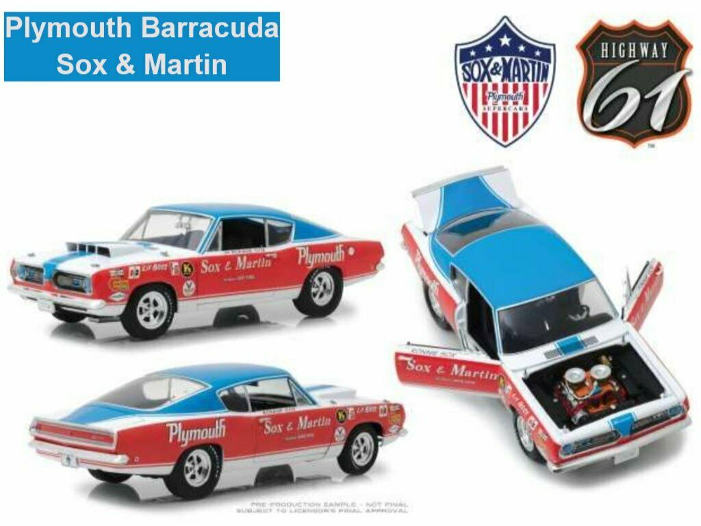 Plymouth Barracuda Sox & Martin 1968  Highway 61  1 18  OVP  NLIMITED