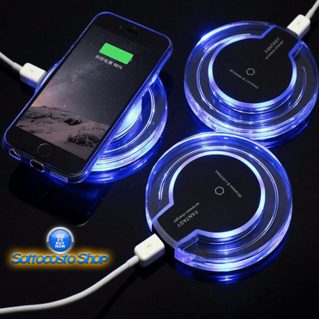 CARICABATTERIE WIRELESS FANTASY PER SMARTPHONE SAMSUNG IPHONE ANDROID IOS