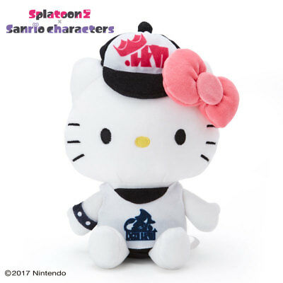 Hello Kitty x Splatoon 2 Sanrio Plush Doll Stuffed toy Japan Kawaii Free Ship