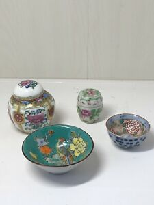 Vintage-Oriental-Chinese-Japanese-Items-Small-Ginger-Jar-Bowl-Etc