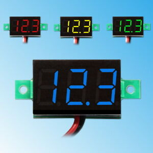 0-36-034-LED-Mini-Digital-Voltmeter-3-30V-DC-Panel-Meter-Spannungsanzeige-Rot-Blau