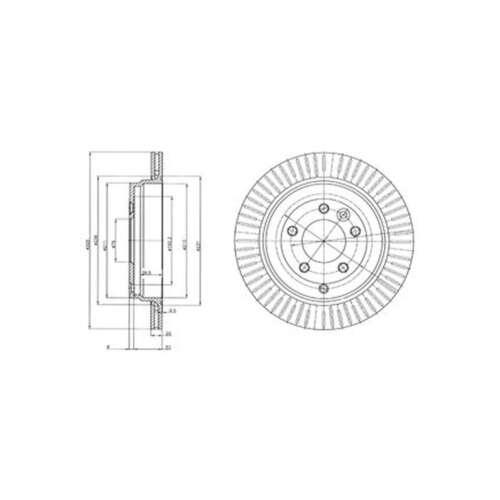 Genuine Delphi Rear Vented Coated Brake Discs Set Pair BG4020C