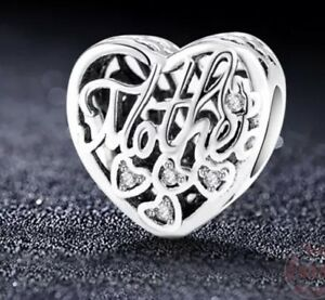 925-100-Solid-Sterling-Silver-Charm-EURO-Bracelet-Mum-Mother-By-Pandora-s-Bliss