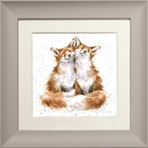 Wrendale-Designs-034-Contentment-034-Fox-23cm-Framed-Picture-FCS151-Taupe