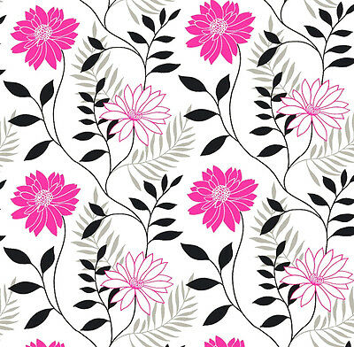 Dolls House Wallpaper 1/12th 1/24th scale Pink Quality Paper #175