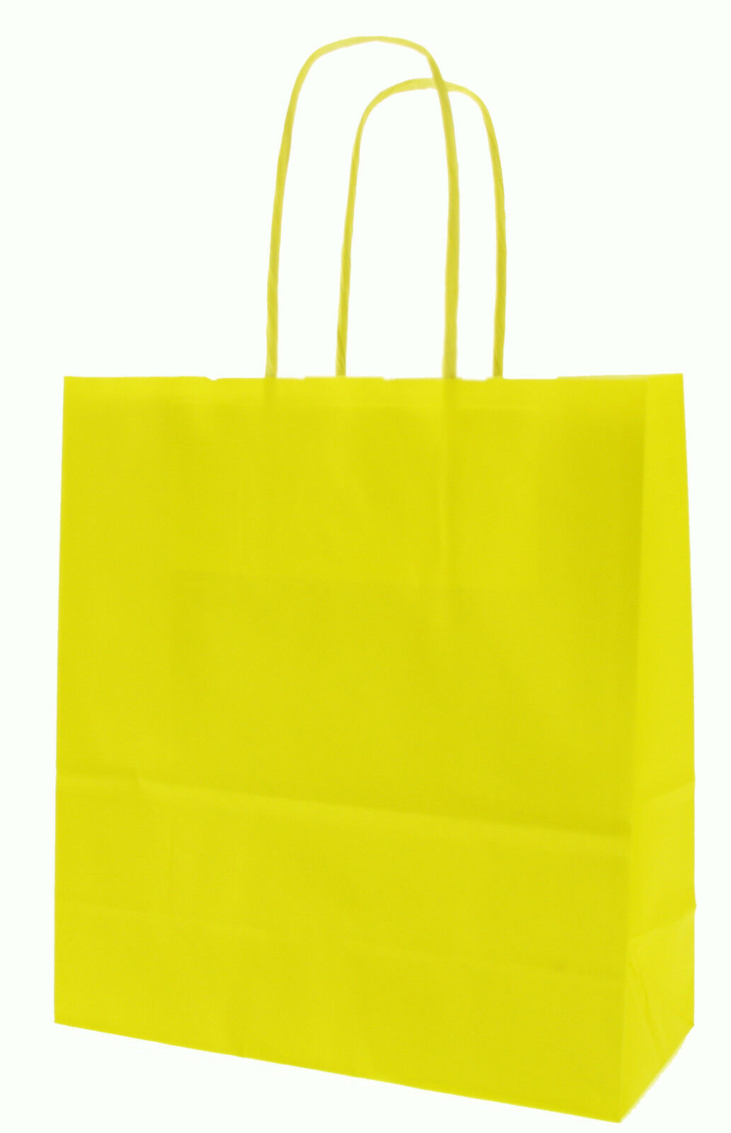 Yellow Paper Carrier Bags with Twisted Paper Handles - Size  20 x 18 x 8