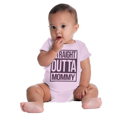 Straight Outta Mommy Funny ShirtCool Baby Clothes Compton Gerber Onesies