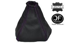 Púrpura Costura Manual Cuero Gear Polaina encaja Kia Sorento 2002-2006