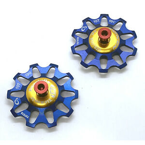 OMNI Racer WORLDs LIGHTEST Ti Ceramic Derailleur Pulleys Fit Campagnolo 9,10 RED