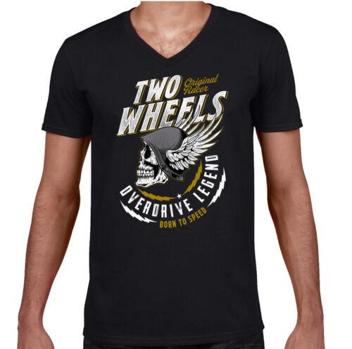 Deux Roues T-shirt motard moto vélo Moto Indian Skull Chopper Haut