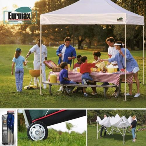 Eurmax 10/'x10/' Ez Pop up Canopy Tent Commercial Instant Shelter with Heavy Duty