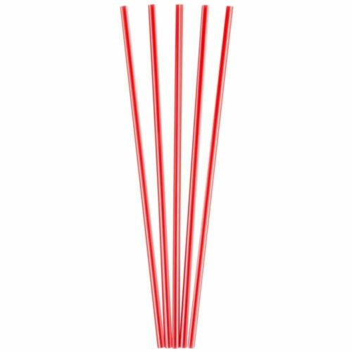 5000 Pack 8 in Red Plastic Coffee Stirrers Straws Cocktail Sip Stir Sticks
