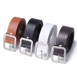 Luxury-Men-Leather-Dress-Belt-Square-Pin-Buckle-Waist-Belts-Casual-Waistband