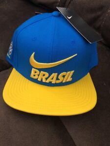 8f00b0ba6a6 Image is loading Nike-Brasil-Football-2018-Pro-Adjustable-Hat-897384-