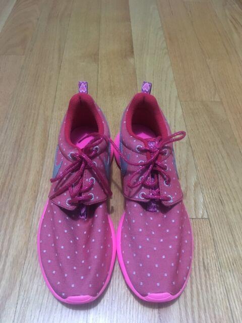 374c7a8baebf Nike Girls Rosherun Print GS Dark Red Metallic Silver Pink POW White ...