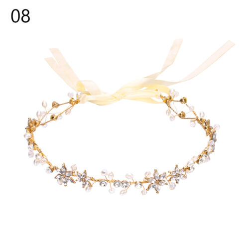Wedding Hair Accessories Bridal Hair Vine Bride Crystal Headband Pearl Leaf