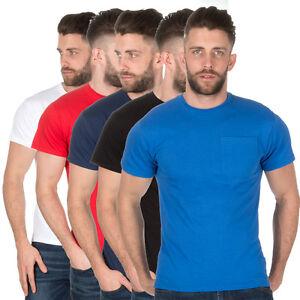 Para-Hombres-Camisa-Camiseta-Clasica-Lisa-2-Pack-Camiseta-De-Manga-Corta-Camiseta-Fruit-Of-The-Loom