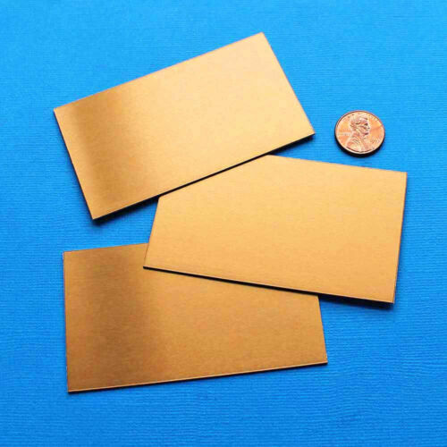 MT352 2 Wallet Card Anodized Aluminum Bronze Stamping Blanks