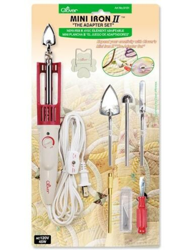 """Clover MINI IRON II /""""The Adapter Set/"""" #CL9101 Sewing Quilting"""