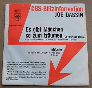 Joe-Dassin-es-gibt-madchen-so-zum-traumen-melanie-SP-45-tours-import-Promo