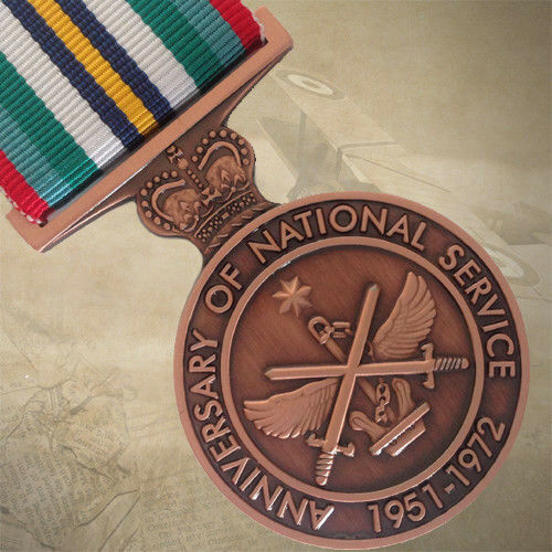 ANNIVERSARY OF  AUSTRALIAN NATIONAL SERVICE 1951-1972 MEDAL   DEFENCE   FORCE