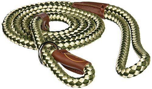 Pet Products DCPR0216GRW Nylon Remington Rope Slip Dog Leash 6 Feet Green White