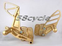 05-06 Gsxr 1000 Gold Vortex Adjustable Rear Sets 2005 2006