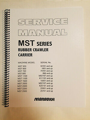 MOROOKA MST-1500VD RUBBER CRAWLER CARRIER PARTS BOOK MANUAL S/N ...