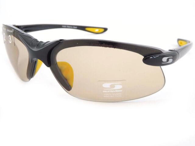a46e6fa54f7a SUNWISE Photochromic WATERLOO Black Sunglasses Light Sensitive Lenses