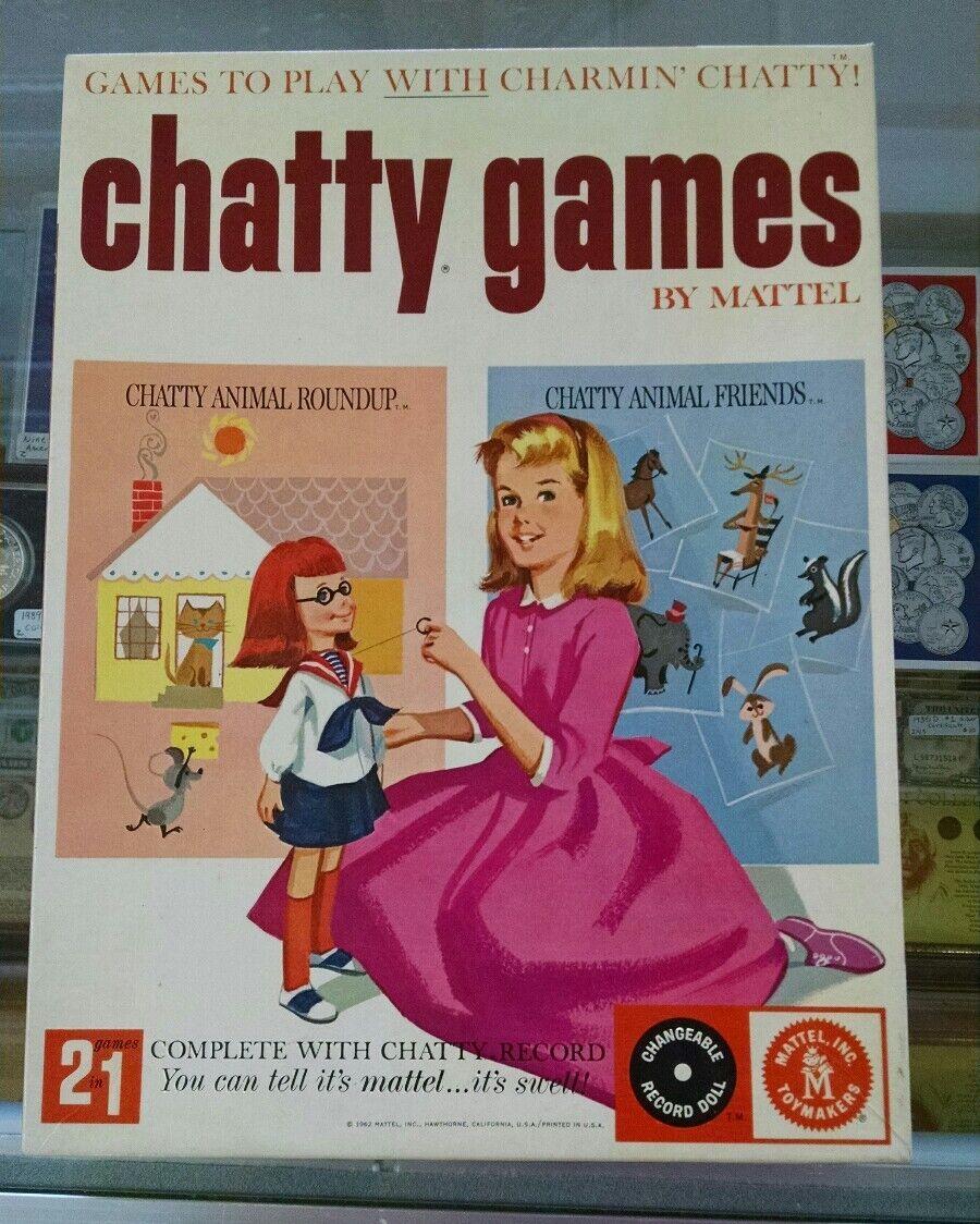 VINTAGE MATTEL Charmin  bavard Games 1962 COMPLET  SEALED  Comme neuf d59