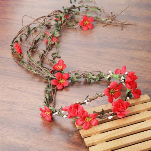 Damen Mariée Cheveux Floral Guirlande Fleur Couronne Bandeau De Mariage