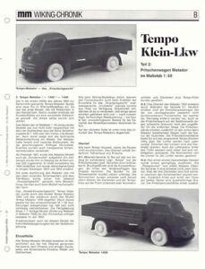 WIKING CHRONIK TEMPO MATADOR KLEIN-LKW Teil 2, von 1993 - Niedersachsen, Deutschland - WIKING CHRONIK TEMPO MATADOR KLEIN-LKW Teil 2, von 1993 - Niedersachsen, Deutschland