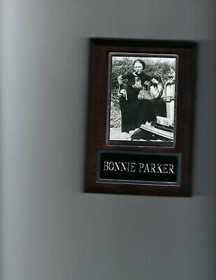 BONNIE /& CLYDE PLAQUE ORGANIZED CRIME BANK ROBBER