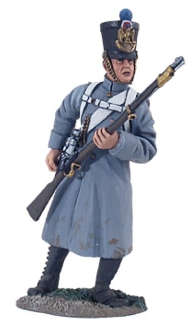 W Britain Set 36093, Napoleonic 105th French Line Infantry Fusilier In Greatcoat